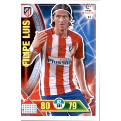 Filipe Luis Atlético Madrid 41 Adrenalyn XL La Liga 2016-17