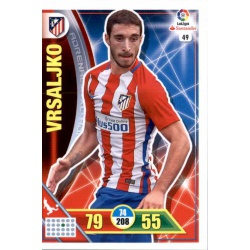 Vrsaljko Atlético Madrid 49 Adrenalyn XL La Liga 2016-17