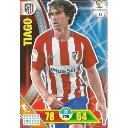 Tiago Atlético Madrid 51 Adrenalyn XL La Liga 2016-17