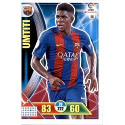 Umtiti Barcelona 58 Adrenalyn XL La Liga 2016-17