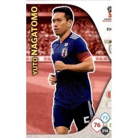 Yuto Nagatomo Japón 194 Adrenalyn XL World Cup 2018