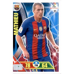 Mathieu Barcelona 68 Adrenalyn XL La Liga 2016-17