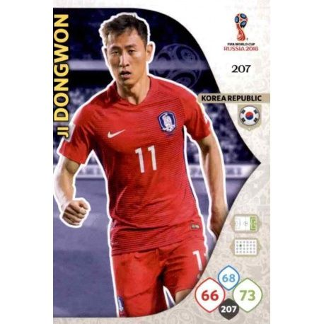Ji Dong-Won Corea del Sur 207 Adrenalyn XL Russia 2018