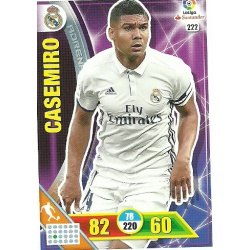 Casemiro Real Madrid 222 Adrenalyn XL La Liga 2016-17