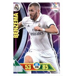 Benzema Real Madrid 226 Adrenalyn XL La Liga 2016-17