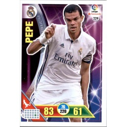 Pepe Real Madrid 229 Adrenalyn XL La Liga 2016-17