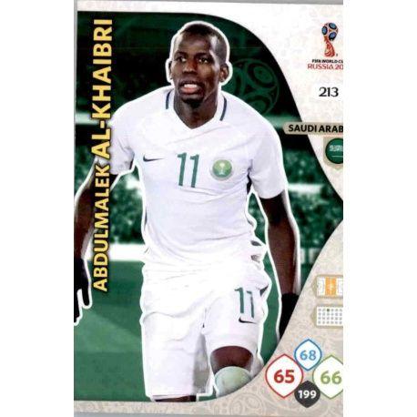 Abdulmalik Al-Khaibri Arabia Saudí 213 Adrenalyn XL World Cup 2018