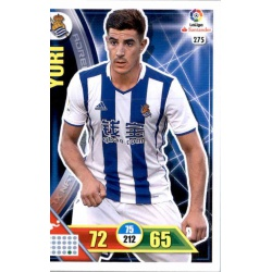 Yuri Real Sociedad 275 Adrenalyn XL La Liga 2016-17