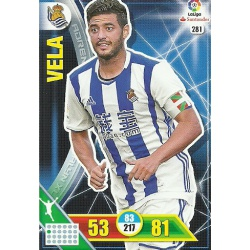 Vela Real Sociedad 281 Adrenalyn XL La Liga 2016-17