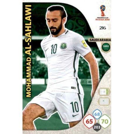 Mohammad Al-Sahlawi Arabia Saudí 216 Adrenalyn XL World Cup 2018