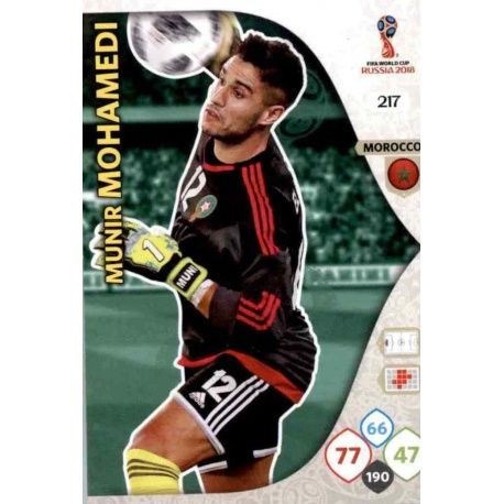 Munir Mohamedi Marruecos 217 Adrenalyn XL World Cup 2018