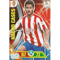 Nacho Cases Sporting 313 Adrenalyn XL La Liga 2016-17