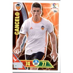 Cancelo Valencia 326 Adrenalyn XL La Liga 2016-17