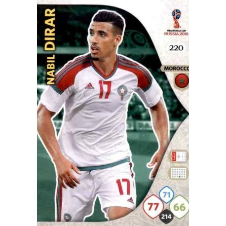 Nabil Dirar Marruecos 220 Adrenalyn XL Russia 2018