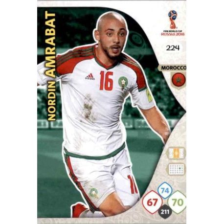 Nordin Amrabat Marruecos 224 Adrenalyn XL World Cup 2018