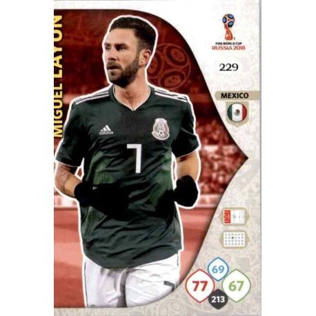 Miguel Layún Méjico 229 Adrenalyn XL World Cup 2018