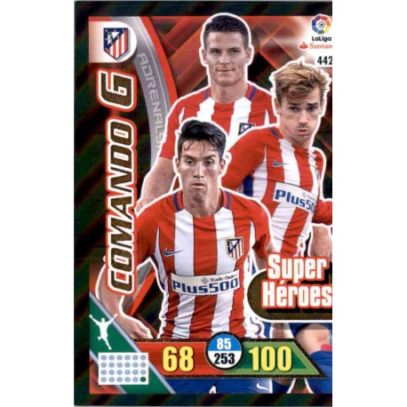Sale Online Trading Cards Comando G Super Héroes Panini Adrenalyn Xl 2016 17