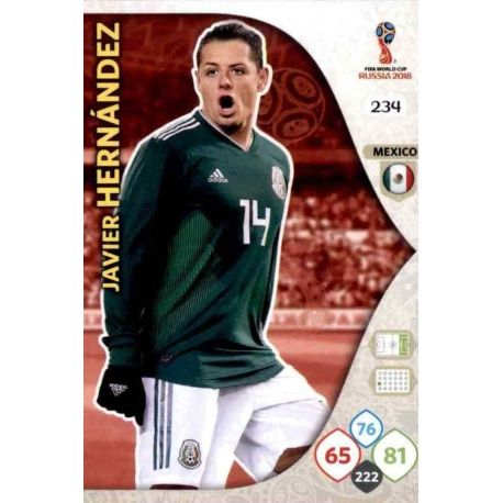 Javier Hernández Méjico 234 Adrenalyn XL World Cup 2018