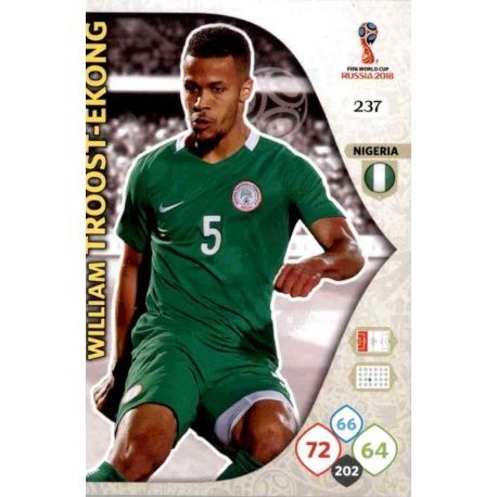 William Troost-Ekong Nigeria 237 Adrenalyn XL World Cup 2018