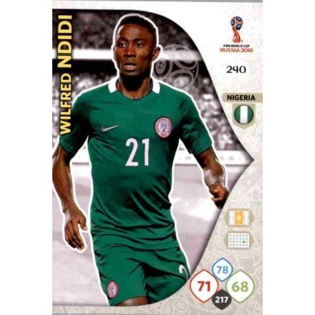 Wilfred Ndidi Nigeria 240 Adrenalyn XL Russia 2018
