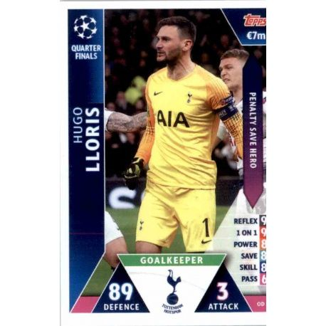 Hugo Lloris Tottenham Hotspur OD21 Match Attax On Demand