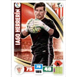 Iago Herrerín Athletic Club 12 Adrenalyn XL La Liga 2015-16