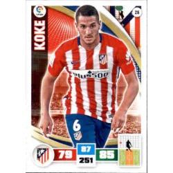 Koke Atlético Madrid 26 Adrenalyn XL La Liga 2015-16