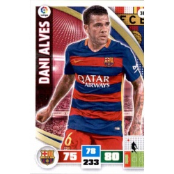 Dani Alves Barcelona 38 Adrenalyn XL La Liga 2015-16