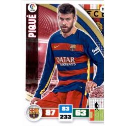 Piqué Barcelona 39 Adrenalyn XL La Liga 2015-16