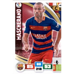 Mascherano Barcelona 40 Adrenalyn XL La Liga 2015-16