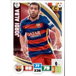 Jordi Alba Barcelona 41 Adrenalyn XL La Liga 2015-16