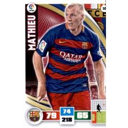 Mathieu Barcelona 50 Adrenalyn XL La Liga 2015-16
