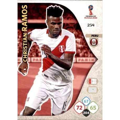 Christian Ramos Perú 254 Adrenalyn XL Russia 2018