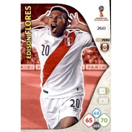 Edison Flores Perú 260 Adrenalyn XL World Cup 2018