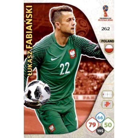 Łukasz Fabiański Polonia 262 Adrenalyn XL Russia 2018