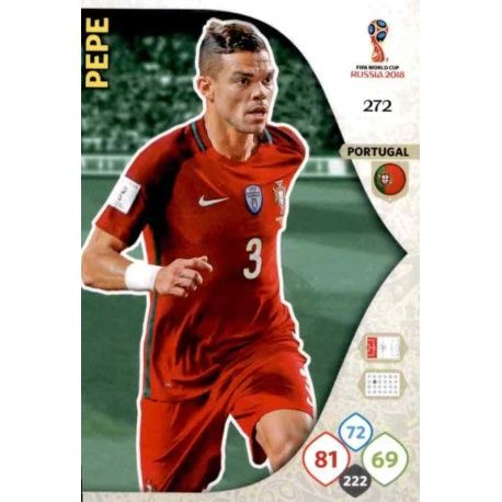 Pepe Portugal 272 Adrenalyn XL Russia 2018