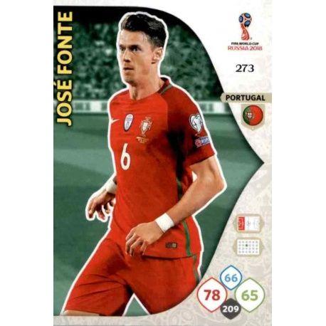 José Fonte Portugal 273 Adrenalyn XL Russia 2018