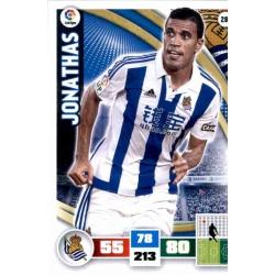 Jonathas Real Sociedad 281 Adrenalyn XL La Liga 2015-16