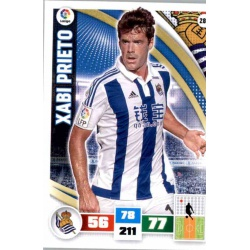Xabi Prieto Real Sociedad 286 Adrenalyn XL La Liga 2015-16