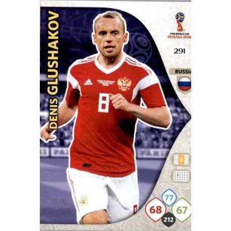 Denis Glushakov Rusia 291 Adrenalyn XL World Cup 2018