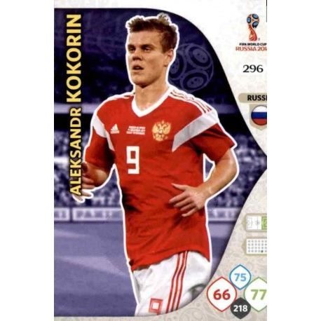 Aleksandr Kokorin Rusia 296 Adrenalyn XL World Cup 2018