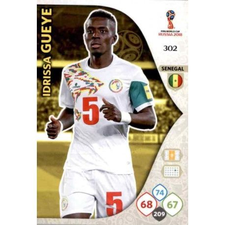 Idrissa Gueye Senegal 302 Adrenalyn XL Russia 2018