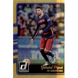 Gerard Pique Gold Parallel Donruss Gold Parallel 2016-17