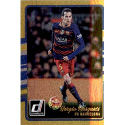 Sergio Busquets Gold Parallel Donruss Gold Parallel 2016-17