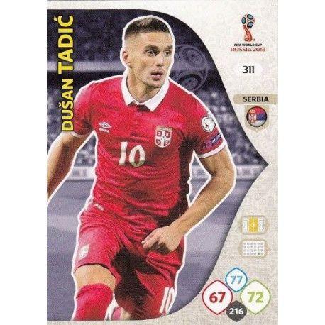 Dušan Tadić Serbia 311 Adrenalyn XL Russia 2018