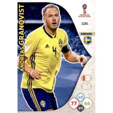 Andreas Granqvist Suecia 326 Adrenalyn XL Russia 2018