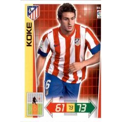 Koke Atlético Madrid 31 Adrenalyn XL La Liga 2012-13