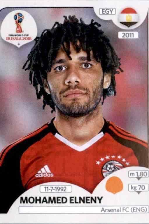 Panini WM 2018 World Cup Russia Ägypten Sticker 80 Ahmed Abdelmonem Fathy