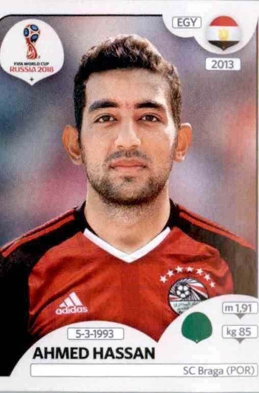 Sticker 89 Ägypten Panini WM 2018 World Cup Russia Ahmed Hassan