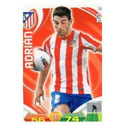 Adrián Atlético Madrid 34 Adrenalyn XL La Liga 2011-12